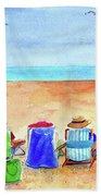 Six Beach Amigos Bath Towel