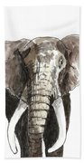 Sketch Elephant Bath Towel