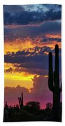 Skies Aglow In Arizona  Bath Towel