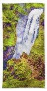 Skogafoss Waterfall #10 Hand Towel
