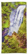 Skogafoss Waterfall #10 Bath Towel