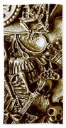 Skull And Cross Bone Treasure Bath Towel