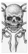 Skull Design Bath Towel