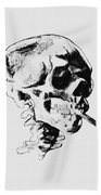 Skull Smoking A Cigarette Bath Towel