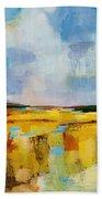 Sky And Marsh Bath Towel