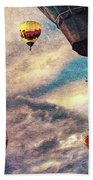 Sky Caravan Hot Air Balloons Bath Towel
