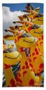 Sky Giraffes Bath Towel