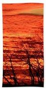 Sky On Fire Bath Towel