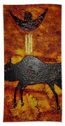 Sky People Taking Buffalo Bath Towel