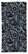 Slate Gray Paisley Design Bath Towel