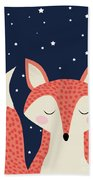 Sleepy Fox Hand Towel