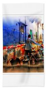 Slice Of Life Milkman Blue City Houses India Rajasthan 1a Bath Towel