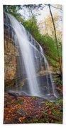 Slick Rock Falls, A North Carolina Waterfall In Autumn Bath Towel