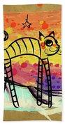 Slinky Cat Bath Towel