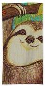 Sloth And Frog Bath Towel