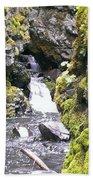 Small Falls At Boulder Cave Bath Towel