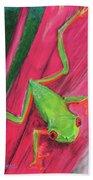 Small Frog Hand Towel