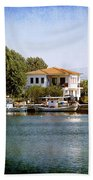Small Town In Greece Bath Towel
