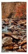 Smokey Mountain Streams And Fall Foilage 2 Bath Towel