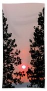 Smokey Okanagan Sunset Bath Towel