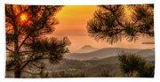 Smoky Black Hills Sunrise Bath Towel