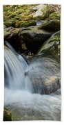 Flowing Stream #3, Smoky Mountains, Tennessee Bath Towel