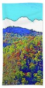 Smoky Mountains Scenery 6 With Sunny Day Filter Hand Towel