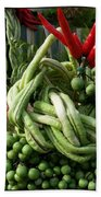 Snake Beans. At The Surin Elephant Hand Towel