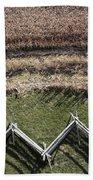 Snake-rail Fence And Cornfield Hand Towel
