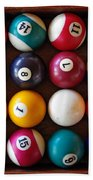 Snooker Balls Hand Towel