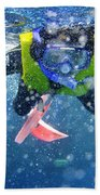 Snorkeling At The Great Barrier Reef Bath Towel