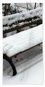 Snow Bench Hand Towel