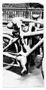 Snow Bicycles Bath Towel