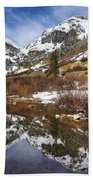 Snow-capped Refections Bath Towel