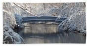 Snow Covered Bridge Bath Towel