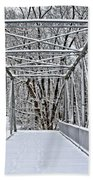 Snow Covered Pony Bridge Bath Towel