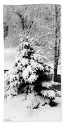 Snow Covered Trees Bath Towel