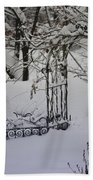 Snow Covered Wisteria Arch Bath Towel