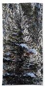Snow Flocked Pines One Bath Towel