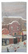 Snow For The Holidays Painting Bath Towel
