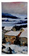 Snow In Ardennes 79 Bath Towel
