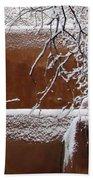 Snow In Santa Fe New Mexico Bath Towel