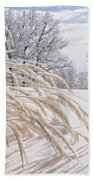 Snow Laden Bath Towel