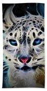 Snow Leopard Bath Towel