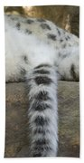 Snow Leopard Nap Bath Towel
