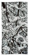 Snow On Branches Bath Towel