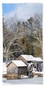 Snow On The Mill 2 Hand Towel