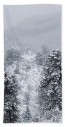 Snow On The Ridge In The Pike National Forest Bath Towel