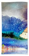 Snowing All Over Spain Bath Towel