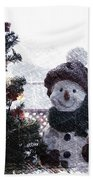 Snowman And Tree Pa Bath Towel